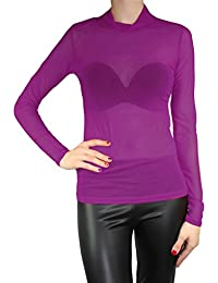 Amazon.es  Camisetas Transparentes - Rosa   Camisetas de manga larga ... 20ac5d4d8ec
