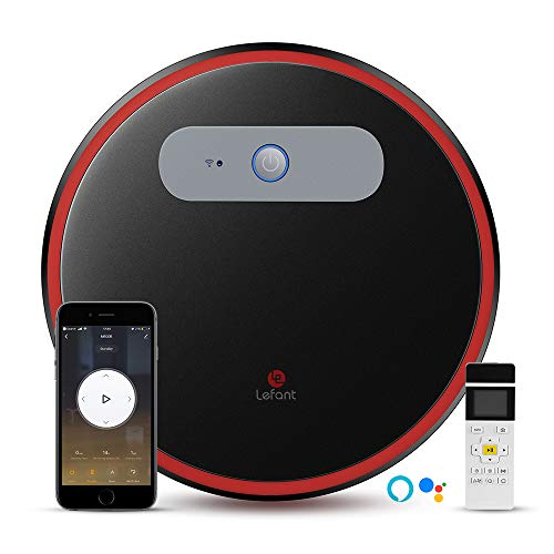 LEFANT Aspirador Robot M501-B con WiFi, Aspira y Barre 2 en 1, App Control, Compatible con Alexa y Google, Auto-Carga, Súper Siliencioso, Aspiradora Potente para Pelo de Mascotas, 130 Minutos