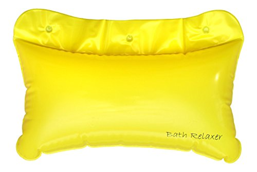 Rest Blow Up Head (Bath Pillow - Inflatable Neck Support Cushion - Foot & Headrest For Bathroom - Luxury Waterproof & Comfortable Bathtub Accessory - Dries Quickly & Naturally by Bath Relaxer)