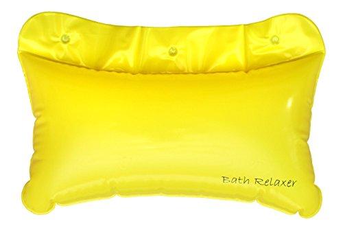 Bath Pillow-Cuscino gonfiabile per collo del piede & poggiatesta per bagno, di lusso, & accessorio comodo per vasca da bagno, impermeabile, si asciuga velocemente & Naturally
