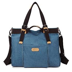 CHEREEKI Damen Handtasche, Canvas Bag Large Totes Umhängetasche für Shopping, Casual und Work - 35CM * 28CM * 15CM