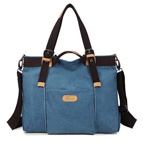 CHEREEKI Damen Handtasche, Canvas Bag Large Totes Umhängetasche für Shopping, Casual und Work - 35CM * 28CM * 15CM -