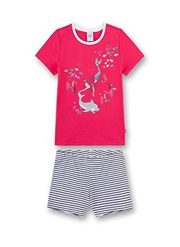 Sanetta Mädchen Schlafanzug kurz Bekleidungsset, Rot (Garnet 38081), 98 (Herstellergröße: 098)
