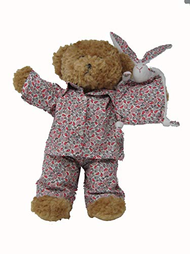 Lulas Workshop Red/Pink Pyjamas with Bunny Suitable for 16