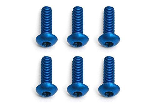 Team Associated FT Screws, 3x 10mm bhcs, Blue Aluminum