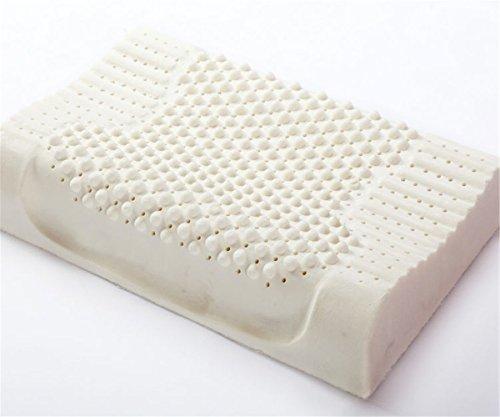 GXSCE natürliches Latexkissen, zervikales spezielles Massage-Kissen, hypoallergen und Anti-Staub Weiß, Anti-Schnarch-Kopf-weiche Stützkomfort-waschbare Kissen, 40 * 60cm