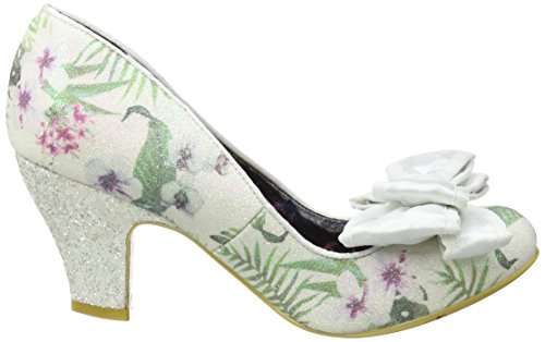 Irregular Choice Damen Ban Joe Pumps White (White Floral)