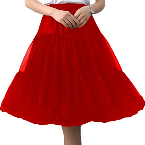 (FOLOBE Frauen Hohe Qualität Tutu Rock Erwachsene Super Soft 50er Jahre Rockabilly Petticoat 65cm/25.6