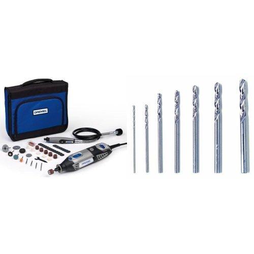 Dremel 4000-1/45 - Multiherramienta (175 W, 1 complemento, 45 accesorios) + Juego de bs de precisión (7 piezas) (628)