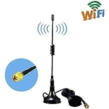 SMA Base Magnética Antenna 11DBI Alta Ganancia 4G LTE , Amplificador de Antena GSM Wifi Receptor de adaptador de Red Antena SMA de Largo Alcance con cable a conector SMA para punto de acceso móvil