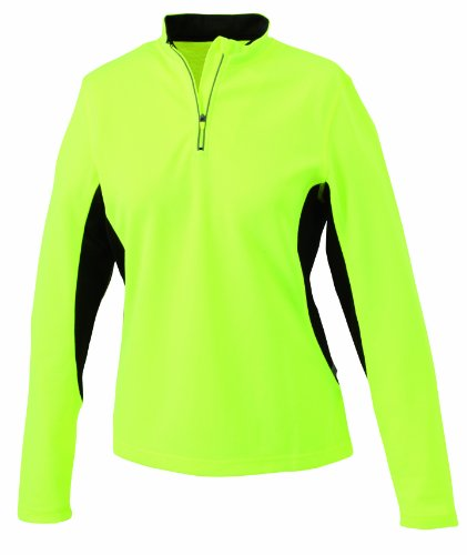 James & Nicholson Damen T-Shirt Running Shirt Medium fluoyellow-black