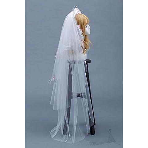 SUYU Fascia per capelli fiore fatto a mano, seta filati, velo, accessori per capelli, Accessori Abito da sposa