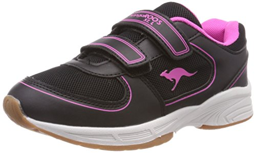 KangaROOS Unisex-Kinder Sinu V Sneaker, Gelb (Jet Black/Daisy Pink 5025), 33 EU
