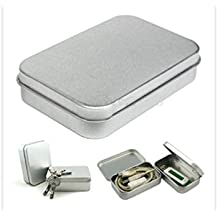 Youmei 6pcs 12.5 x 9.2 x 3.5 Basic Necessities argento in latta per quiche metal scatola rettangolare contenitori mini box Portable Small Storage kit Home organizer denaro monete Candy chiavi USB Flash Disk carte di