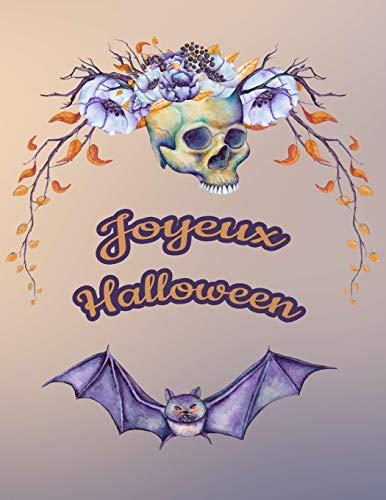 Carnet de Notes: Halloween - Grand journal personnel de 121 pages blanches avec couverture et pages sur le thème d'Halloween par Virginie Polissou