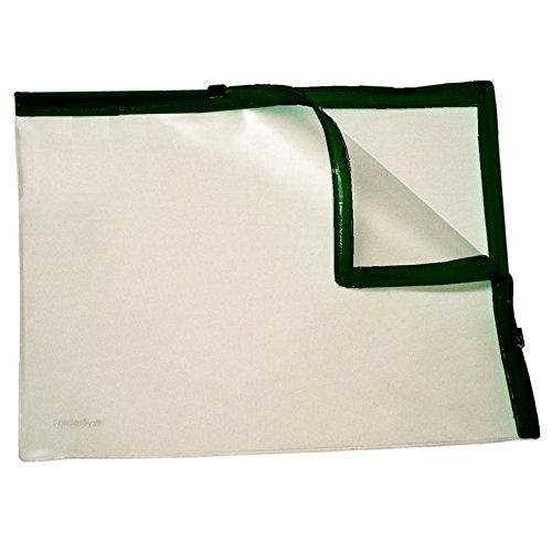 Klarsicht-Sammelbeutel für A4, mit 2 Plastik-Zips, PVC, Zipp schwarz, 10 Stück
