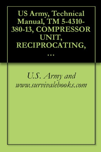 US Army, Technical Manual, TM 5-4310-380-13, COMPRESSOR UNIT, RECIPROCATING, 25 CFM; 175 PSI, ELECTRIC MOTOR DRIVEN: MODEL 10HT8G, (NSN 4310-01-198-9365), ... manauals, special forces (English Edition) -