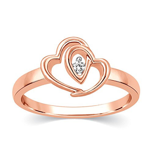 Carats for you Everlite Collection 18k (750) Rose Gold and Diamond Ring
