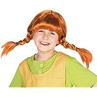 Maskworld Original Pippi Langstrumpf Perücke für Kinder - rote Haare mit 2 Zöpfen