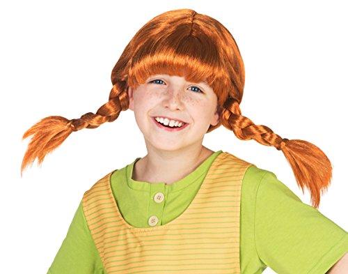 trumpf Perücke für Kinder - rote Haare mit 2 Zöpfen (Kinder Perücke)