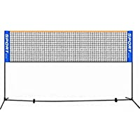 Ramingt-Home Red de Tenis Simple Plegable 3m / 4m / 5m / 6m bádminton Raqueta de Tenis Fútbol Neto por Tenis Exterior (Color : Blue, Size : 6m)