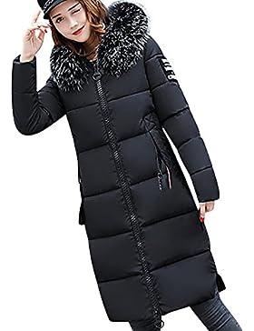 Separación! SHOBDW Mujeres casual color oscuro piel cuello grueso invierno Slim Down chaqueta Lammy abrigo
