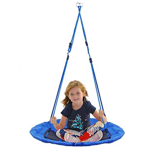 Nestschaukel Amzdeal Garten-Schaukel 100cm bis 80KG belastbare Kinderschaukel höheverstellbar ,blau
