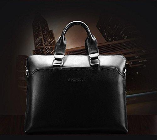 Aktentasche Luxus Aktenmappe Laptop für Herren Tasche Sammlung 2016 Modell SAN MARINO (Schwarz) Schwarz