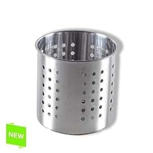 Pot à ustensiles de cuisine - pot à couverts Inox.. L