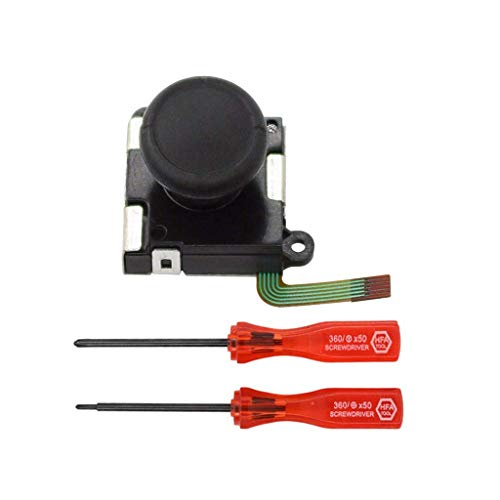 Fliyeong 3D Analog Sensor Stick Joystick Ersatzteile Kits Für Schalter NS Joy-Con 3D Rocker Wartungswerkzeuge Sicherheit Schraubendreher Kit Öffnungswerkzeuge für Reparatur Hohe Qualität