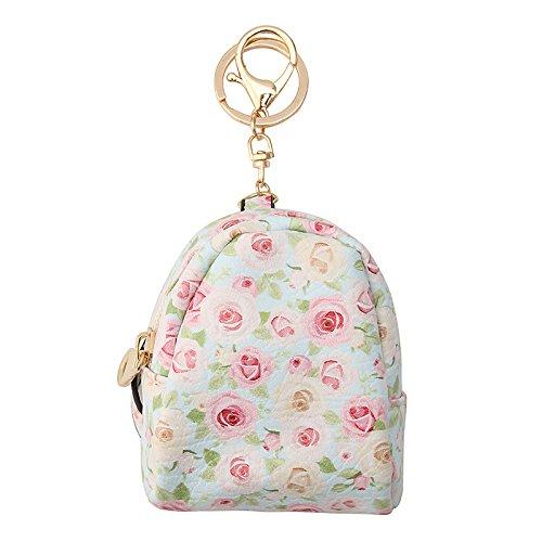 Preisvergleich Produktbild GOZAR Blumen Mini Auto Hangbag Schlüsselanhänger Schlüsselanhänger Ring Geschenke Schmuck