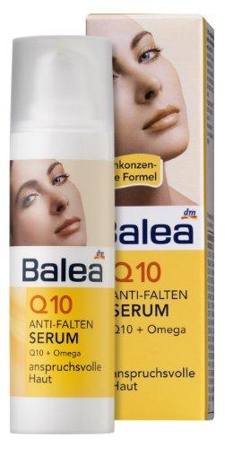Balea Q10 Anti-Falten Serum für anspruchsvolle Haut, 2er Pack (2 x 30 ml)