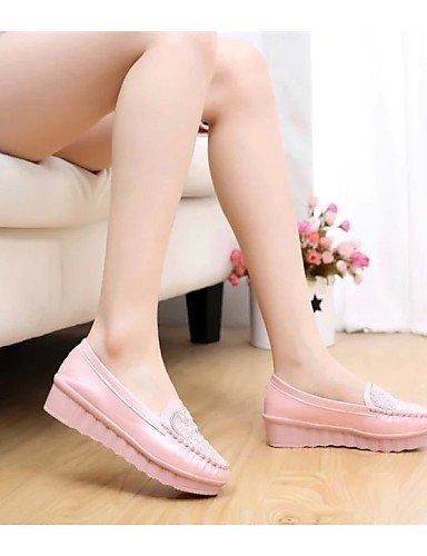 ShangYi gyht Scarpe Donna - Mocassini - Casual - Punta arrotondata - Piatto - Finta pelle - Blu / Rosa / Bianco Pink