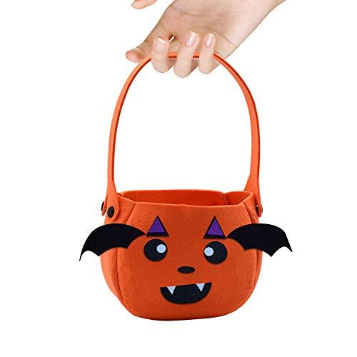Hargitech sacchetto di caramelle di halloween sacchetto di caramelle cestino panno zucca adatto per halloween decorazioni natalizie