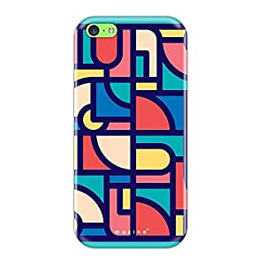 Mozine Disk Pattern Printed Mobile Back Cover For Apple Iphone 5C