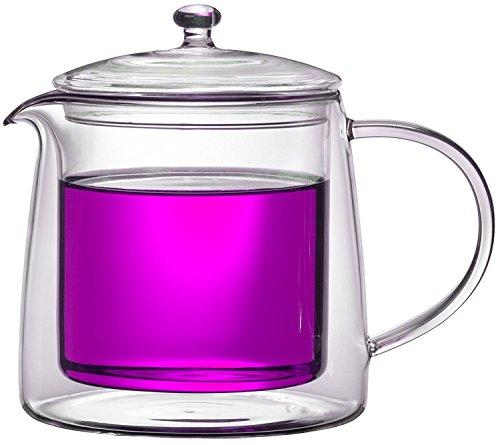 Teekanne 613482 Teekrug Karaffe Tee-Kanne Thermoglas 500 ml doppelwandig Modell Lenny für Heiß- und Kaltgetränke (500ml) - 2