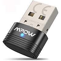 Mpow Adaptador Bluetooth 5.0 USB, Transmisor Receptor Bluetooth 3-en-1 con Audio Inalámbrico 3.5MM Cable, para PC/TV/Auriculares/Altavoces/Radio, Compatible con Windows 10, 8, 8.1,7, XP, Vista