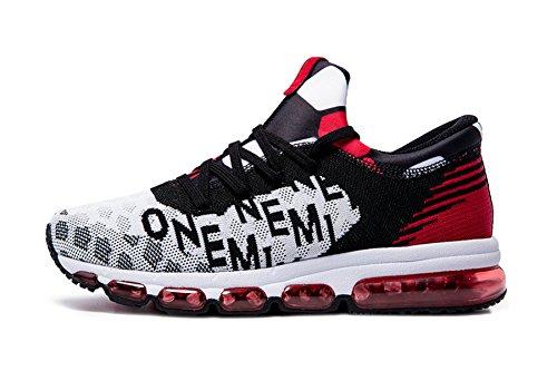 huge selection of 779d1 10189 Onemix Air Zapatos para Correr Transpirable Zapatillas de Running para  Hombre Deportivas Calzado Negro   Blanco