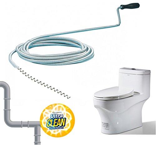 Rohrreinigungsspirale Abflussspirale Rohr Reinigungspirale Rohrreiniger Werkzeug Spirale 300 cm Metall für Rohr, WC, Toilette uvm.