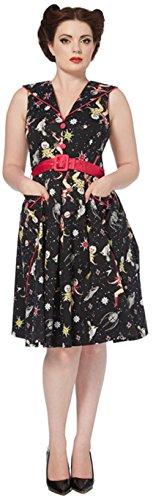 Voodoo Vixen Kleid DRA 2311 Schwarz S