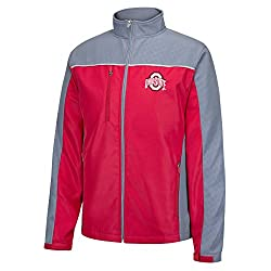 NCAA Ohio State Buckeyes Men's Marlo Debossed Soft Shell Jacket, True Red, Medium
