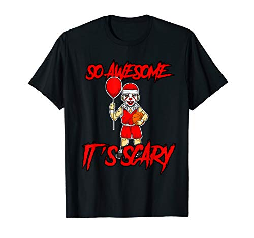 So Awesome It's Scary Fun Halloween Clown Basketball Spieler (Basketball Spieler Kostüm Für Jungen)
