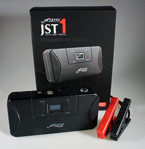 Tattu Jumpstarter JS 12000 mAh OLED Lifepo4 Starthilfe Batteriestarter Schnellstartsystem Starthilfegerät Notstart Pannenhilfe für KFZ u. Motorrad