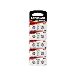 Camelion AG 9 LR 45 1.5 V Alkaline Button Cell Battery (Pack of 10)