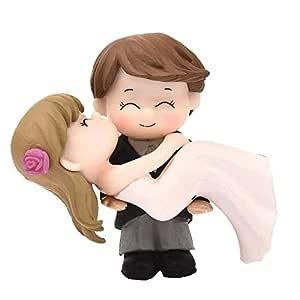 P S Retail Sweety Lovers Couple Hug Style Figurine Miniature- Style 10 -(2pcs/Set)
