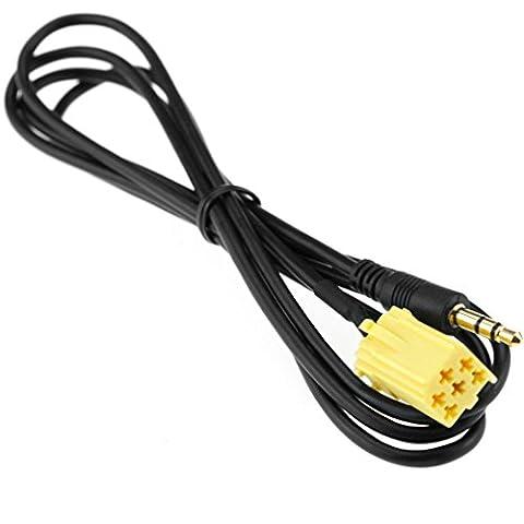 Autoradio Fiat Grande IPOD MP3 3.5mm adaptateur auto Jack Aux-Input Interface Cable