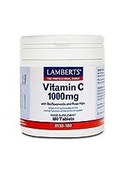 Lamberts Vitamin C 1000mg + Bioflavonoids, 180 Tablets