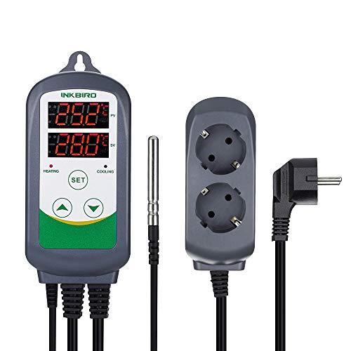Inkbird ITC-308EU Digitale Temperaturmessung Steckerthermostat Temperature Controller Temperaturregler, Fahrenheit Celsius,℃/F Relais Thermostat Steuerung Sensor (Aquarium Thermostat)