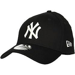 New Era New York Yankees - Gorra para hombre, color negro, talla S/M