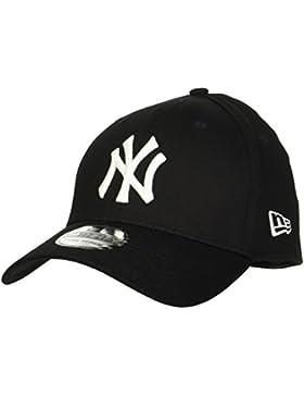 Gorra Flexfit Visera Redondeada New Era 39Thirty League Basic New York Yankees N (S/M , Negro)